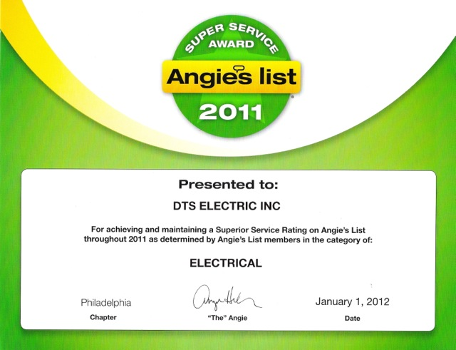 DTS Electric, Inc  - Certifications